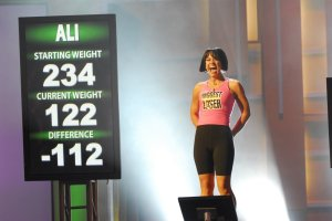 """THE BIGGEST LOSER -- """"Season 5 Live Finale"""" Episode 516 -- Pictured: Season 5 Winner Ali Vincent -- (Photo by: Dave Bjerke/NBC/NBCU Photo Bank via Getty Images)"""